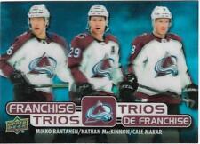 2020-21 UD Tim Hortons FRANCHISE TRIOS MacKinnon Makar Avalanche Card T-8