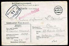 France - Carte d ' un prisonnier du Stalag IV A pour Caen en 1941 - ref A40