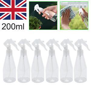 200ML Clear Plastic Perfume Atomizer Empty Spray Bottle Beauty Travel 6 Pcs