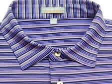 PETER MILLAR SUMMER COMFORT Stripe Short Sleeve Polo Shirt Sz XL