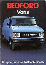 BEDFORD CF Vans 1980-81 Regno Unito delle vendite sul mercato opuscolo 230 250 280 350