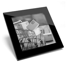 Glass Coaster BW-Online Shopping chariot drôle #43307