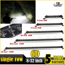 Single Row 6D 8-32'' Led Work Light Bar Combo Beam for Offroad  4x4 4WD ATV UTE