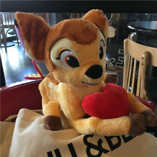 New Disney Bambi deer with red heart Soft Plush Stuffed Toy Gift 34cm