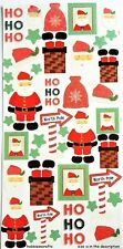 TRIMCRAFT SIMPLY CREATIVE GLITTER STICKERS - SCSTK150 CHRISTMAS - SANTA CLAUS