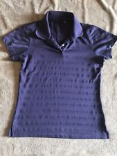 Adidas Purple golf Polo Shirt sz S clima cool tennis short sleeve ribbed