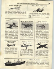 1956 PAPER AD Revell Model Airplanes Convair Super Sabre Sikorshy Helicopter ++