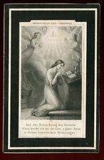 Sterbebild 1880 aus Steyr, Oberösterreich    (D12)