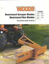 Farm Implement Brochure - Woods - RB BB 4 5 6 - Rear Blades - 1994 (FB815)