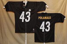 d701ff504 Troy Polamalu Pittsburgh Steelers Reebok Jersey Large Black SL
