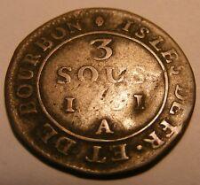 ÎLES DE FRANCE ET DE BOURBON (ÎLES DE LA RÉUNION ET MAURICE) 3 sous 1781 Paris