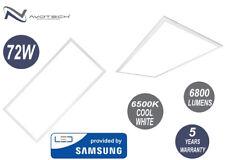 4 x 72W Ceiling Suspended LED Panel Office Lighting 1200x600 COOL White 6500K