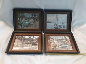 Lionel Barrymore Copper Foil Etch Print Nautical Lot of 4 seaside unique vintage