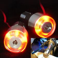 Motorcycle Handle Bar End 12V LED Turn Signal Light Blinker Amber For Yamaha ND