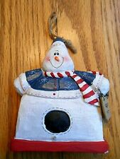 Very Nice 'Eddie Walker' Snowman Birdhouse Ornament by Midwest of Cannon Falls
