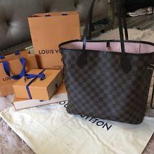 2018 Louis Vuitton Neverfull MM Damier Ebene Tote Shoulder Bag