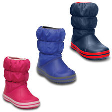 Crocs Winter Puff Boots Kids Warm Lined Winter Snow Soft Fashion Childrens Shoes