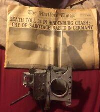 RARE FIND LARGE PIECE FROM THE HINDENBURG  GERMAN ZEPPELIN 1937 ORIGINAL W COA