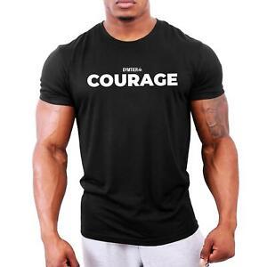 Courage - Men's Bodybuilding T-Shirt | Gym Training Vest Top by GYMTIER
