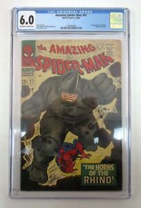 Amazing Spider-Man #41 CGC Graded 6.0 FN 1st Rhino Appearance Marvel 1966
