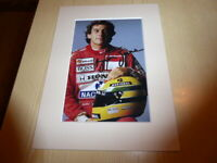 Ayrton Senna Formula F1 McLaren Honda mounted photograph