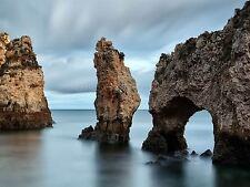 Stampa FOTO FLORA Lagos Portogallo ROCK Impila erosione temporale Arch lfmp0088