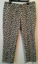 Larry Levine Leopard Pants Stretch Flat Front Lightweight SZ 16- 36x26