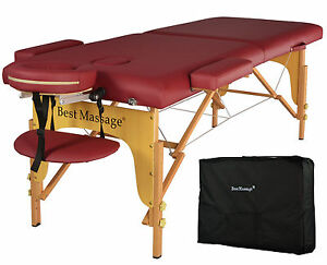 """NEW Burgundy 84"""" Long Portable Massage Table Salon SPA Tattoo Bed w/ Carry Case"""