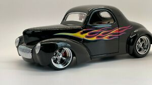 Shyne Rodz 1941 Willy's Coupe w Flames High Detail 1/18 Diecast Road Signature