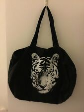 Victoria's Secret Pink Black Tote Tiger Print New