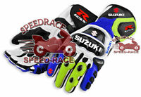 MOTORCYCLE SUZUKI GSXR MOTORBIKE SUZUKI ECOSTAR MOTOGP RACING LEATHER GLOVES