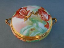 Hand Painted Signed Floral Limoges Gold Vegetable Tureen Old Abbey MdeM