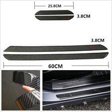 60+25cm Waterproof Auto Scuff Plate Door Sill Cover Panel Protector Carbon Fiber