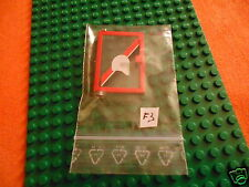 LEGO  SYSTEM    6373  PORTA   E   ADESIVI    Left with Clear Glass  73436c01
