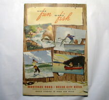~ 1948 Montague Bamboo Fishing Rod Catalog ~ Ocean City Big Game Reels ~