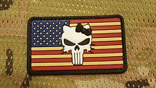 PVC HELLO KITTY PUNISHER SKULL US FLAG MORALE PATCH IDPA IPSC