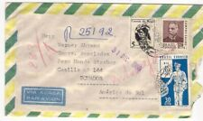 Brazil -> Ecuador 1969 Registered airmail cover - charity sale