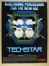 1984 Tama TECHSTAR Electronic Drums vintage print Ad