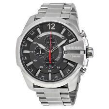 Brand New Diesel DZ4308 Mega Chief Men Black Dial Stainless Steel Band Watch