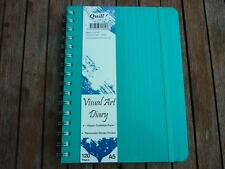 Quill Visual Art Diary A5 Removable divider pocket 120 pages 120gsm paper  Aqua