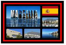 MARBELLA, SPAIN - SOUVENIR NOVELTY FRIDGE MAGNET - SIGHTS / TOWNS - GIFTS - NEW