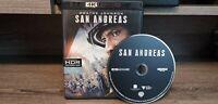 San Andreas (4K UHD Blu-ray, 2015) HDR Dwayne Johnson Fast Shipping No Digital