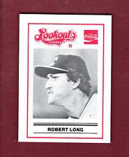 ROBERT LONG ~ 1989 Chattanooga Lookouts LEGENDS II Regional History Museum card