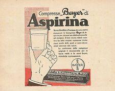 Z0131 Compresse Bayer di Aspirina - Pubblicità del 1926 - Advertising