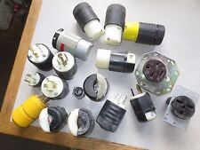 MIXED LOT of ELECTRICAL PLUGS and RECEPTACLES - USED, VERY GOOD - LOT of 18