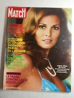 N1761 Magazine Paris-Match N°1228 18 nov 1972 Raquel Welch, colonel Godard,tabac