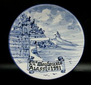 """PIATTO IN CERAMICA di ALBISOLA """" 22° MONTECARLO / ALASSIO 1991 """" CICLISMO BICI -"""