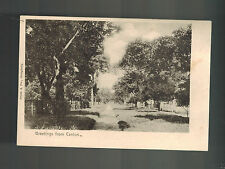 Mint  China picture BW RPPC Real Picture Postcard Greetings from Canton