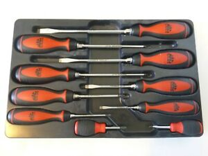 Mac Tools 10 pc Combination Screwdriver Set, Red Soft Grip