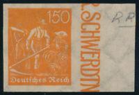 DR 1922, MiNr. 189 U, tadellos postfrisch, Mi. 150,-
